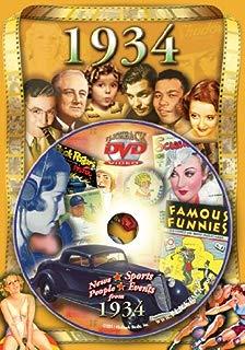 Flickback Media 1934 Flickback DVD Greeting Card: 85th Birthday or 85th Anniversary