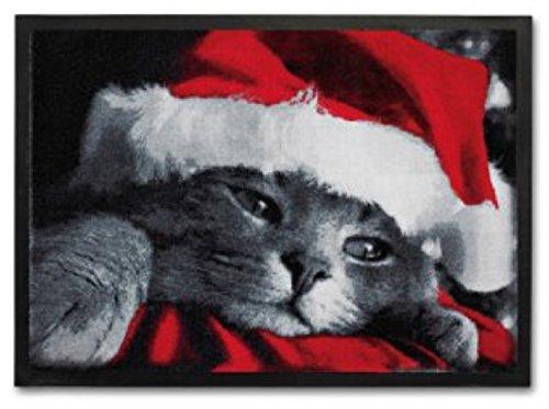 Trendstern Trendprodukteshop Zerbino natalizio con gatto di Natale