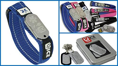 UTAG - Sport SOS Ice - ID-Armband, blau, mit Notfall USB Stick Ice