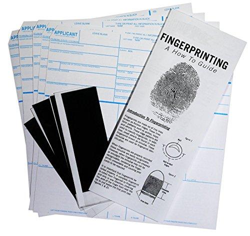 FD-258 Fingerprint Kit: 5 Cards, Ink, and Directions
