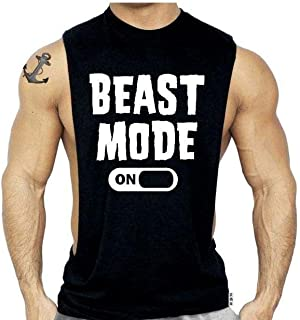 SR Men`s New Fitness Sleeveless Muscle Shirt for Workout Gym Bodybuilding Tank Top