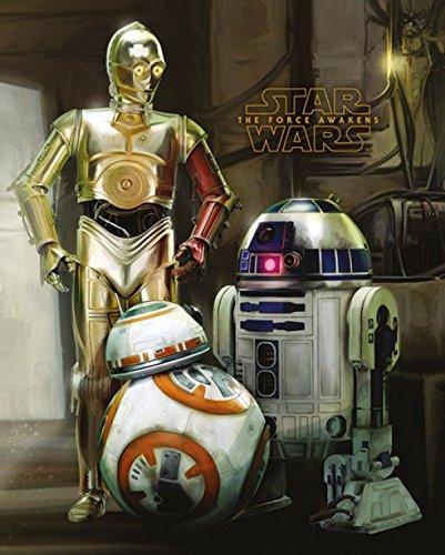 1art1 Star Wars - Das Erwachen Der Macht Episode VII, BB-8, R2-D2, C-3-PO Droiden Mini-Poster 50 x 40 cm