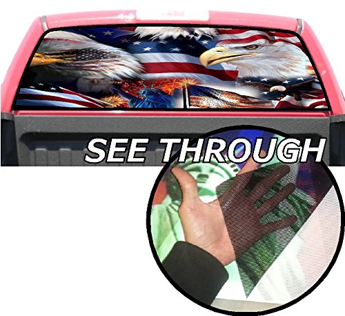 P356 American Flag Eagle Tint Rear Window Decal Wrap Graphic Perforated See...