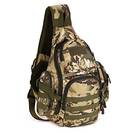 Fancybox Protector Plus Sac à dos tactique militaire Molle Sac à bandoulière Grand sac à dos pour ordinateur portable Randonnée Trekking Camping, CP Camo, L