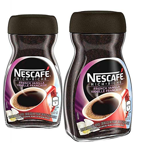 NESCAFÉ Rich Instant Coffee, 100g Jar | 2- Pack (French Vanilla)