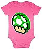 HARIZ Body de manga corta para bebé, diseño de seta retro, gamer Plus, tarjetas de regalo, unicornio fucsia, 0-3 meses