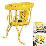 Sillín de bicicleta niño, asiento de seguridad infantil for bicicleta de seguridad de una silla de bebé Silla Cojín de la bici del amortiguador de asiento delantero colgantes del asiento trasero de do