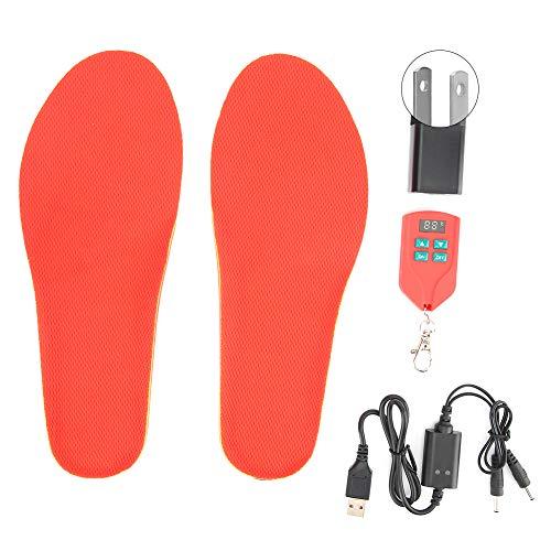 Plantillas térmicas con USB, plantillas calefactables por infrarrojos, con tres velocidades, potencia de calentamiento 35 – 60 °C, para caza, invierno, esquí, pesca, senderismo (41 – 46 UE)