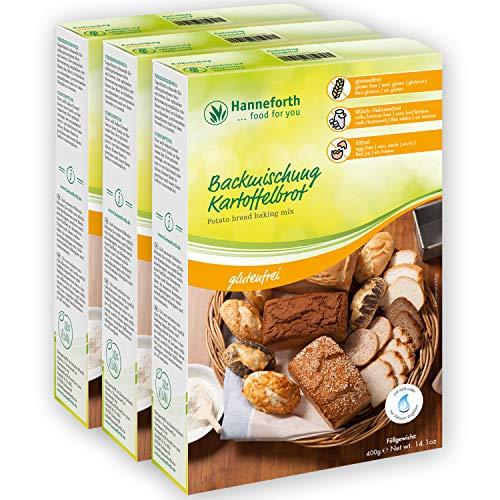 Glutenfreie Backmischung Kartoffelbrot | 3*400g | Hanneforth