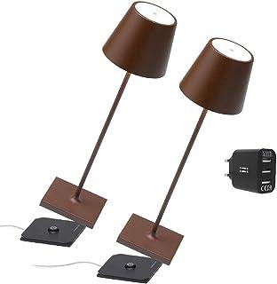 [AmazonExclusive] Zafferano Set 2x lampes portables Poldina Pro, chargeur double USB Aiino pour charger lampe/smartphone e...