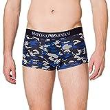Emporio Armani Underwear Trunk Camouflage Bañador, Marine Camou+ Eagles, M para Hombre