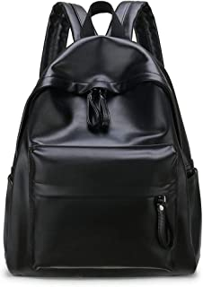 ZWBP Mujer The Wild PU Leather High Capacity Girl School Bag Ocio Mochila Travel Toiletry Bag (Color : Black, Size : Free Size)