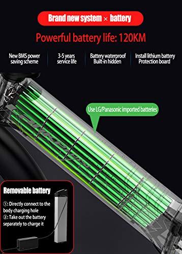 51PXz8ToHyL - YMWD 20 Zoll Klapprad E-Bike 400W Fettreifen Elektrofahrrad Mountainbike Für Herren Und Damen Mit 48V 10.4-12.8Ah Lithium-Batterie Bis Zu 120 Km Reichweite Citybike