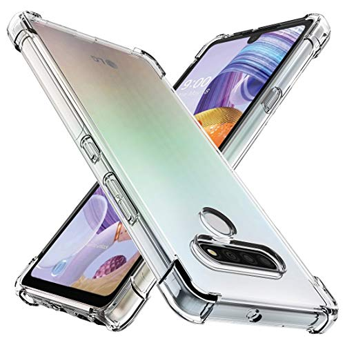 Osophter for LG Stylo 6 Case Clear Transparent Reinforced Corners TPU Shock-Absorption Flexible Cell Phone Cover for LG Stylo 6(Clear)