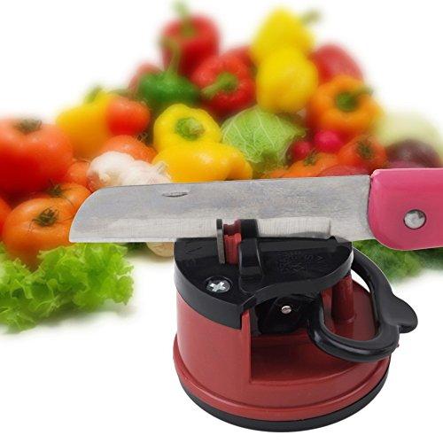 1Pc Professionelle Chef Pad Küche Schärfwerkzeug Messerschleifer Scherenschleifer Sichere Spitzer Absaug- für Messer