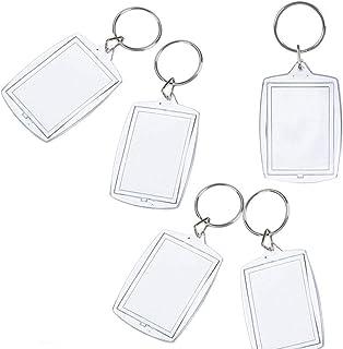 Insert Foto Bilderrahmen Frame benutzerdefinierte Keyring Schlüsselanhänger DIY