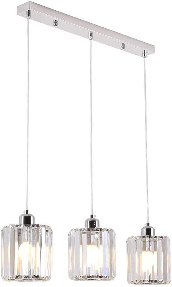 Lampadario di cristallo di lusso moderno a tre teste zmsdt-hl-627