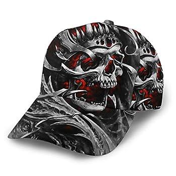 Dreamfy Skull Tattoo Revenge Fierce Faced Women Men Baseball Cap Adjustable Trucker Plain Hats 6 Panel Caps Polo Style Dad Hat Unisex