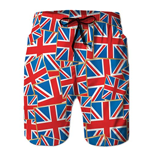 Holefg3b Herren Beach Shorts Boardshorts Atmungsaktive Badehose Union Jacks