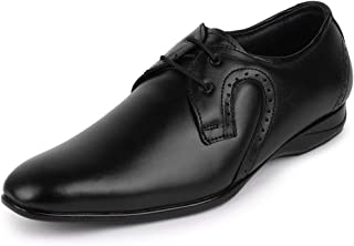 FAUSTO Men's Leather Formal Oxford Lace Up Shoes