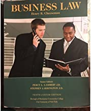 Business Law Tenth Custom Edition for Borough of Manhattan Community College, 10th Edition