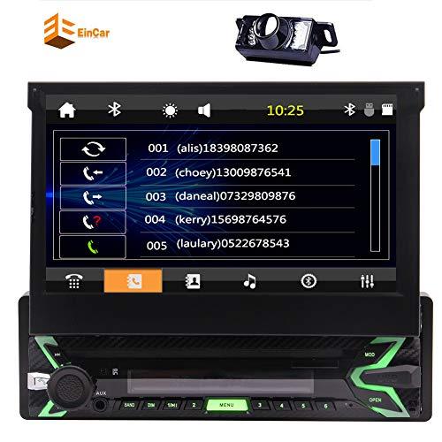 Singolo baccano in precipitare Wince Stereo 6.0 Auto antifurto staccabile frontale Testa Pannello unità Autoradio Autoradio Bluetooth / 7incn capacitivo supporto stereo / SD / / AM telecamere multi