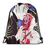 N / A Fairy Tail Nalu Baseball Unisex Sacche da Palestra Gymsack Impermeabile Drawstring Bag Ideale Borse Sacca Sportiva per Donna Uomo