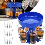 Dispensador de 6 Vasos de Chupito y Soporte, Dispensador de 6 Chupitos Múltiple, Soporte Para Colgar Gafas Carrier Caddy Dispensador de Chica Fin de Semana, Fiesta-Regalo