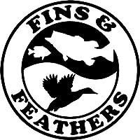 カーステッカー 15.2cm * 15.2cmアヒルの魚の狩猟ハンターガンカービニールデカールステッカー車のスタイリングアクセサリーブラック カーステッカー (Color Name : Black)