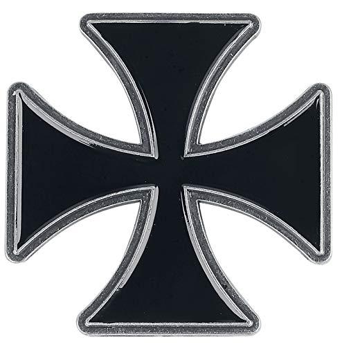 Cruz Hierro Iron Cross Unisex Pin Negro, Aleación de Zinc,