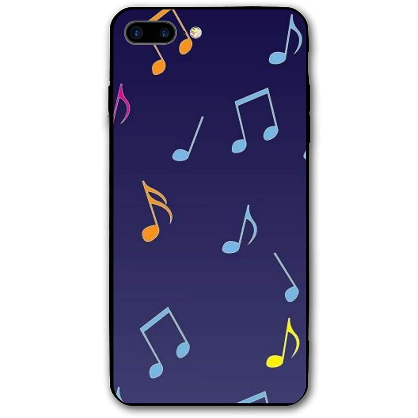 Adetad 5.5Inch iPhone 8 Plus Case Music Notes Pattern Anti-Scratch Shock Proof Hard PC Protective Case Cover