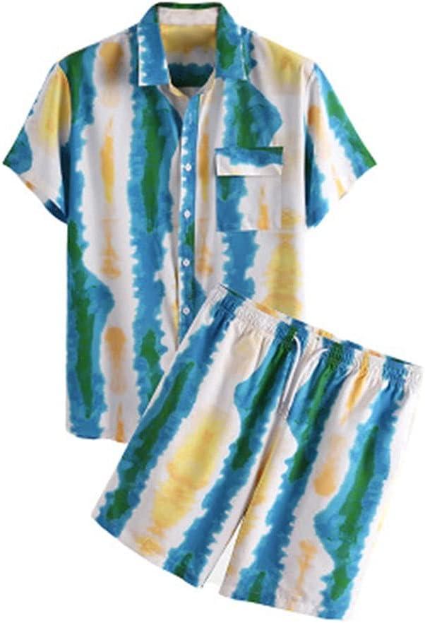 Milwaukee security Mall SPNEC Men's Short-Sleeved Shirt Summer Shorts Cl Casual