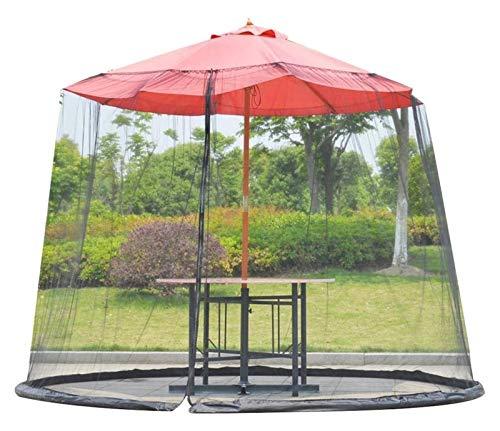 REWD Pantalla de Cubierta Neta Paraguas, Pantalla de Mesa de Mesa de jardín Exterior Parasol Cubierta de mosquitera, con Cremallera - Excluyendo Paraguas y Base (Color : 275 X 230cm)