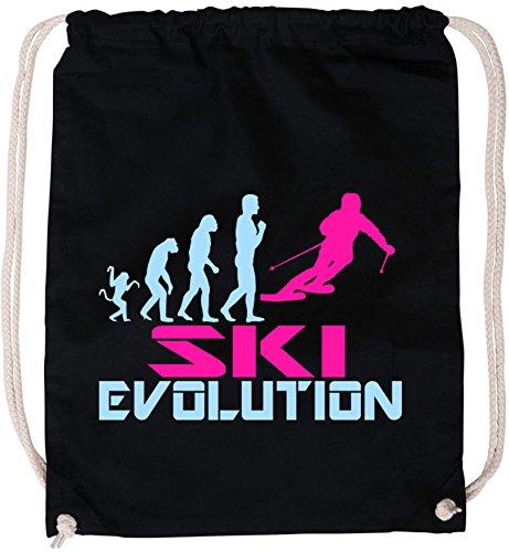 EZYshirt® Ski Evolution Baumwoll Stoffbeutel