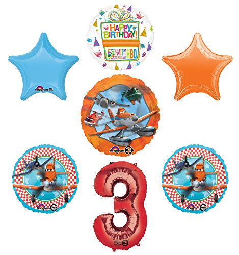 Planes Fire and Rescue 3rd Birthday Party Supplies and Balloon Decoration Bouquet