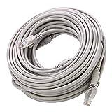 Byged Cable Ethernet RJ45 + DC, Cable Cat5 y extensión de alimentación Dos en...