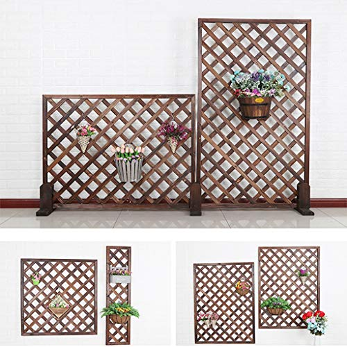 Zaun Holz Zaun Gitter Dekoration Wanddekoration Gitter Leitschiene Garten Spalier Garten Display Zaun (Color : 60x120cm)