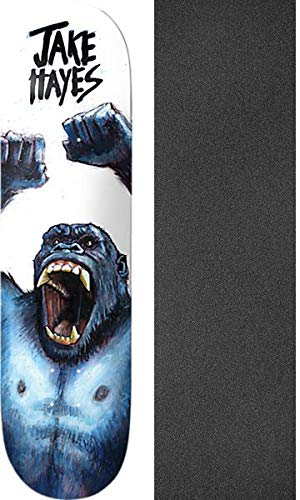 "Deathwish Skateboards Jake Hayes Ape Shit Skateboard Deck - 8.12"" x 31.5"" with Black Magic Black Griptape - Bundle of 2 Items"
