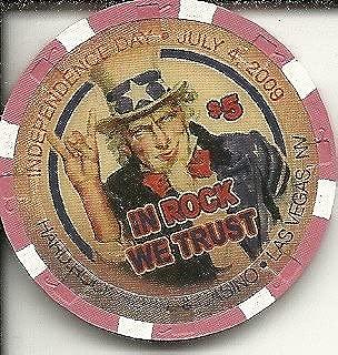 $5 hard rock hotel july 4th 2009 las vegas casino chip
