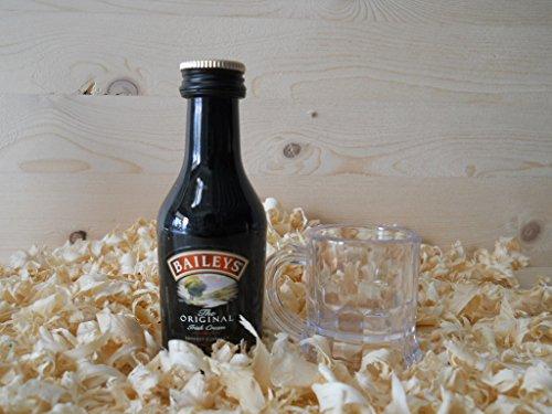 Botellín miniatura Licor crema Bayleys con vasito chupito