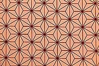 生地 1m単位 CBプリント 和風柄 2388.2389 布 市松模様 麻の葉 人気漫画柄 (1068-C(麻の葉/ピンク)) [並行輸入品]