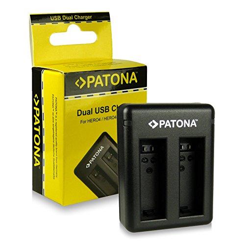 PATONA Dual Lader voor AHBBP-401 Batterij compatibel met GoPro Hero 4