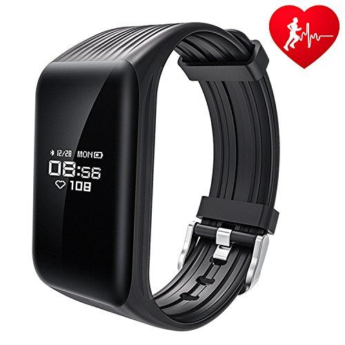 Fitness Tracker, Monitoraggio Continuo Battito Cardiaco, DAWO K1 Cardiofrequenzimetro da Polso Impermeabile Activity Tracker Smartband Monitoraggio Sonno Chiamate/SMS Notifiche