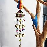 Esquisite Life Windspiele,Orientalische Handarbeit Anhänger Dekoration Kürbis Gras Trommeln 19 Glocken Windspiele