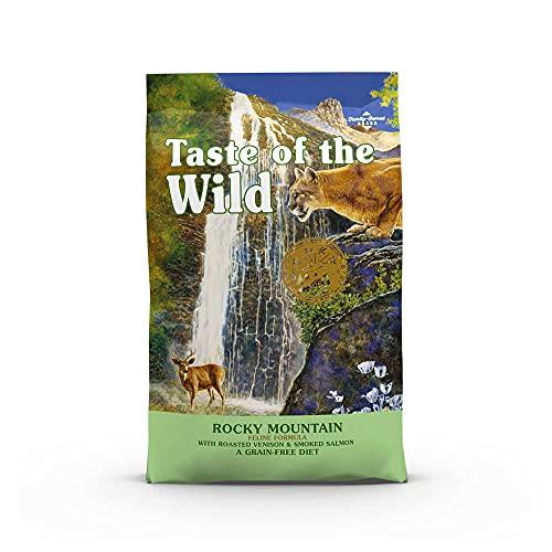 Taste of the Wild Rocky Mountain - Nourriture pour félins - Venaison torréfiée et Saumon fumé - 2 kg