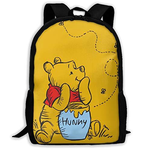 LIUYAN Custom Winnie The Pooh Casual Backpack School Bag Travel Daypack Gift