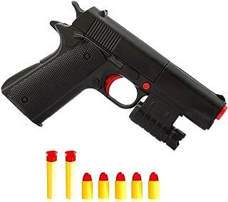Rivoean 1 Pcs Black Toy Pistol Realistic 1:1 Scale Colt M1911A1 Rubber Bullet Pistol Mini Pistols