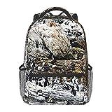 BYETWIK Mochilas Escolares Niños Niñas, Mochilas Hombre Mujer, Casual Deporte Playa Viaje Compras Bolsa Escolar, Mochilas Escolares Colonia de pingüinos 41