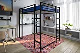 DHP 5457196 Abode Full-Size Loft Bed Metal Frame with Desk...