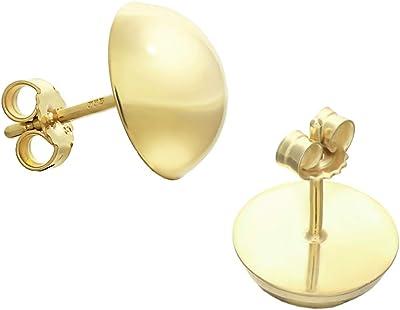 NKlaus coppia di orecchini a perno da 10mm 333 8 carati oro giallo mezza palla signore orecchini a spina 9073